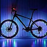 SOOHAO LED Resistente Al Agua Ruedas De Bicicleta Luces De Rayos Recargable USB Tira De Luces De NeumáTicos Multicolor Led Accesorios De Bicicleta Luces Nocturnas para NiñOs Adultos Montar De Noche…