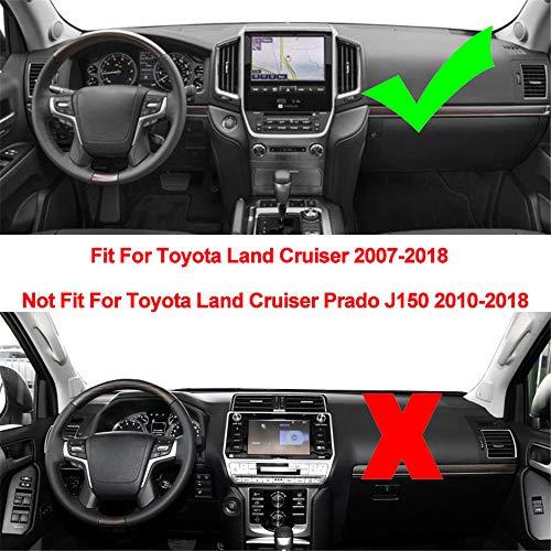 ZHAOHAOSC Cubierta del Tablero de Instrumentos DashMat Silicona, para Toyota Land Cruiser J200 2008 2009 2010 2011 2012-2016 2017 2018 2019 Dash Mat Pad
