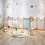 Liveinu 3D Wandpaneel Deckenpaneele Fliesen Wandbezug Wandverkleidung Wanddeko Wandplatten DIY Wärmeisolation Wasserdicht Wandaufkleber für Wände Hintergrund Wand Dekoration 25x50cm Katze 9