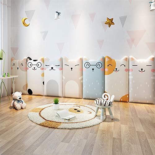 Liveinu 3D Wandpaneel Deckenpaneele Fliesen Wandbezug Wandverkleidung Wanddeko Wandplatten DIY Wärmeisolation Wasserdicht Wandaufkleber für Wände Hintergrund Wand Dekoration 25x50cm Katze 11
