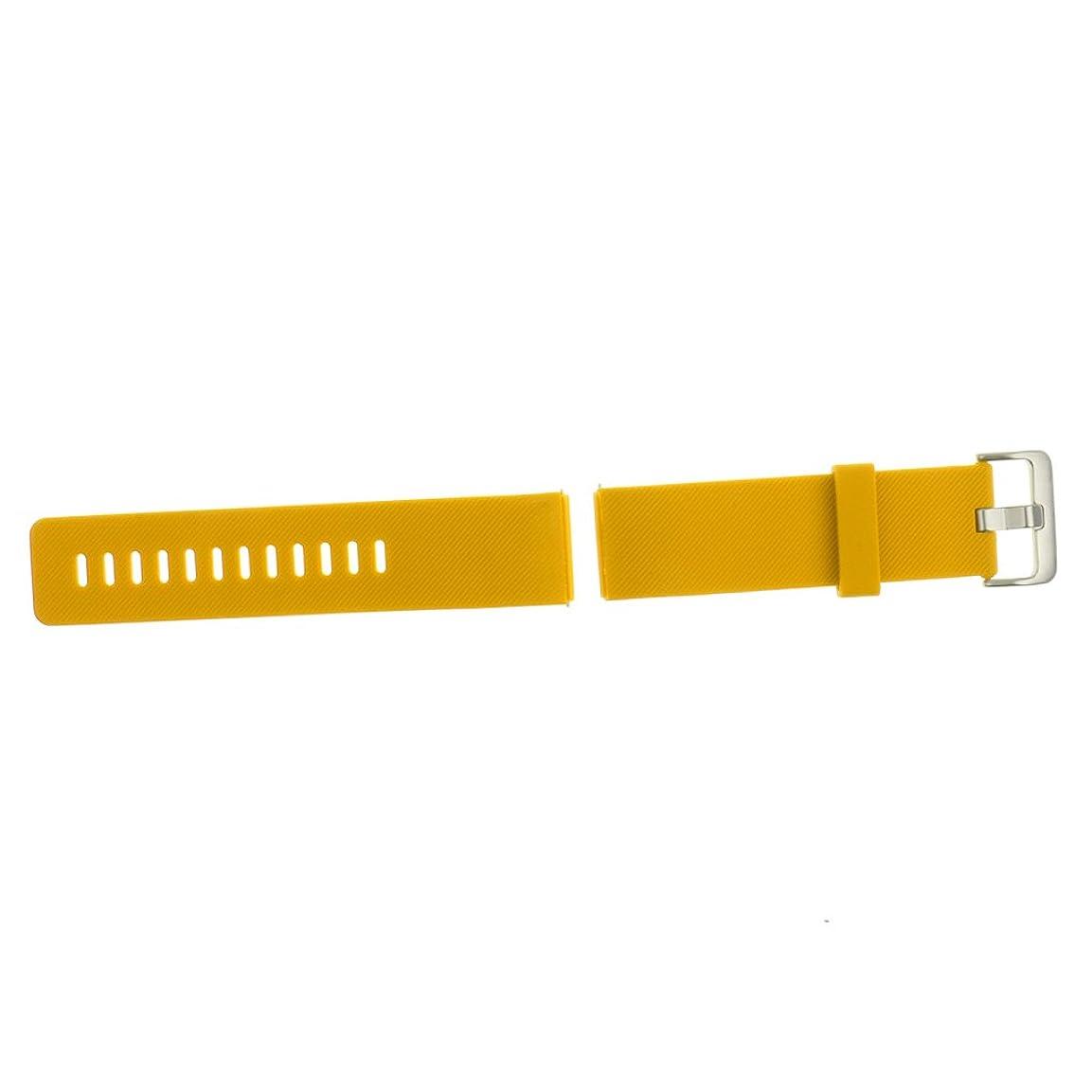 団結する自由生き物Fitbit Blaze 用 シリカゲル製 交換用 手首 ブレスレット スポーツ バンド - 黄