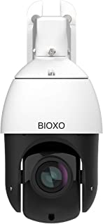20X Optical Zoom IP PoE+ Auto Tracking Outdoor Pan Tilt Zoom Security Camera, Bioxo 1080P High Speed ONVIF PTZ Dome Camera, 328ft Night Vision IP66 Waterproof PTZ Camera, Support Max 128GB SD