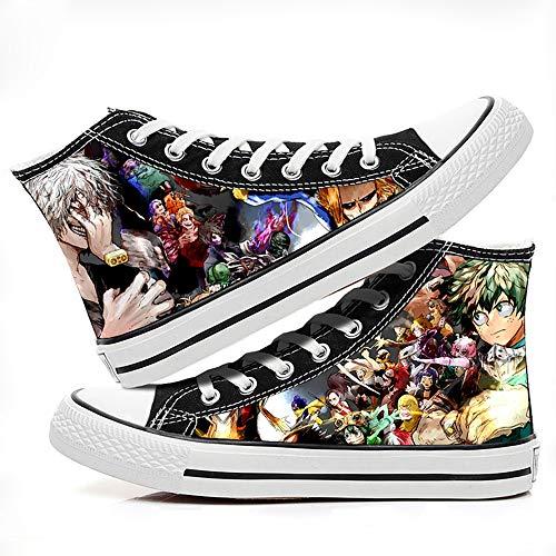 Ga-yinuo My Hero Academia Alpargatas Zapatos Hombre Zapatillas Casual Bambas Zapatos Mujer Adolescente Zapatillas Deportivas Zapatos Planos Unisex Anime Shoes 37