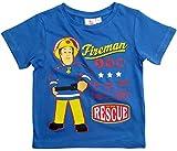 Feuerwehrmann Sam T-Shirt Jungen Rundhalsausschnit