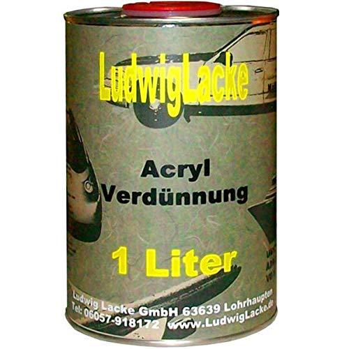 Acryl Verdünnung 1Liter normal f Autolack und RAL Lack