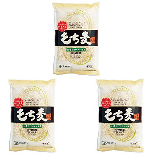 【 創健社 】 もち麦 (米粒麦) 630g ×3個