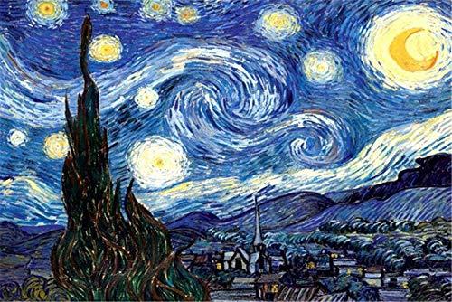 DanTanes Vincent Van Gogh Ölgemälde Sternenhimmel Puzzles Intelligenz Karton Puzzles für Heimtextilien 1000 Stück