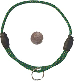 National Leash Thin Mountain Rope ID Collar - Meadow Green - Large Size - The Original Snickers Collar