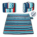 DONGQI Manta Picnic Impermeable, Alfombra Playa Plegable, 200 x 200cm Manta de Picnic Grande, Anti-Calor, Resistente la Arena, para Picnics, Camping, Playa, Viaje