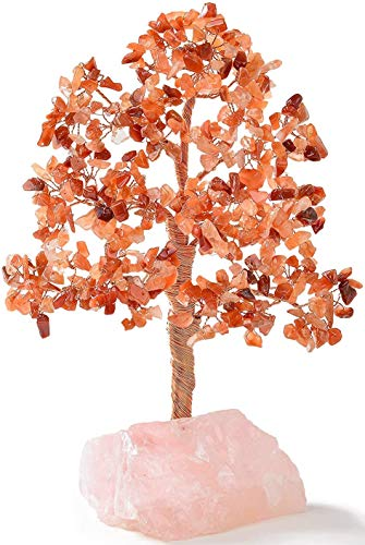 Natural Carnelian Chakra Crystal Tree