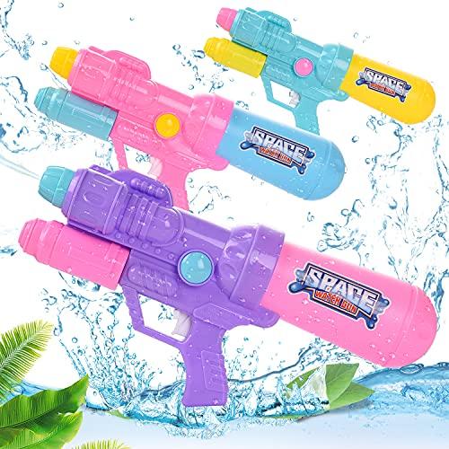 Colmanda Pistolas de Agua para Niños, 2000ML Pistolas de Agua Grandes, Verano Juguetes de Agua Juego, Juguetes para Niños Pistola Chorro de Agua, Fiestas de Verano al Aire Libre, Jardín(Doble Cabeza)