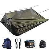 XHJZ-W Hamaca Doble, hamacas portátil de Camping al Aire Libre con Mosquitera Ligera paracaídas Tela Cama Colgante el oscilación,A