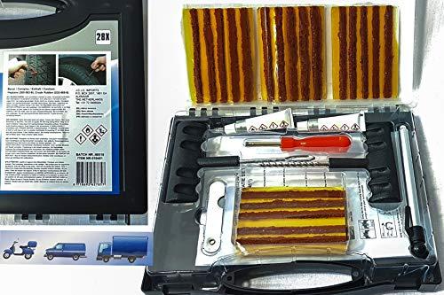 Benson Tool pannenset Reifenreparaturset tubeless Auto Reifen reparaturset Reifendichtmittel reifenflickzeug für pkw, LKW Zweiräder, Dreiräder Wohnmobile usw