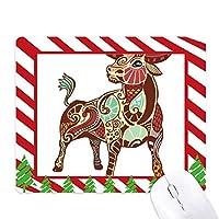 おうし座十二宮シンボル ゴムクリスマスキャンディマウスパッド