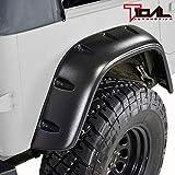 Tidal Front + Rear Fender Flare Wheel Cover Trim Pocket Rivet Style for 87-95 Jeep Wrangler YJ