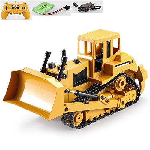 W-star Ferngesteuerter RC Radlader 1:20 Bagger Spielzeug Baustellenfahrzeug Bulldozer mit Schwenkbarer Schaufel Radlader