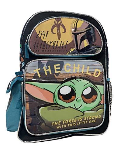"Disney Star Wars Baby Yoda"" THE CHILD"" Kids Backpack 16"" Large Bag"