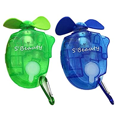 S'beauty Portable Carabiner Water Misting Fan Mini Fan