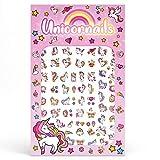 Unicorn Rainbows Hearts Stars Cupcakes Art Kids Fake Finger Cute Nail Stickers Decoration for Girls Decals Kits Transfer Set Birthday Filler Stars Cute Children Gift…