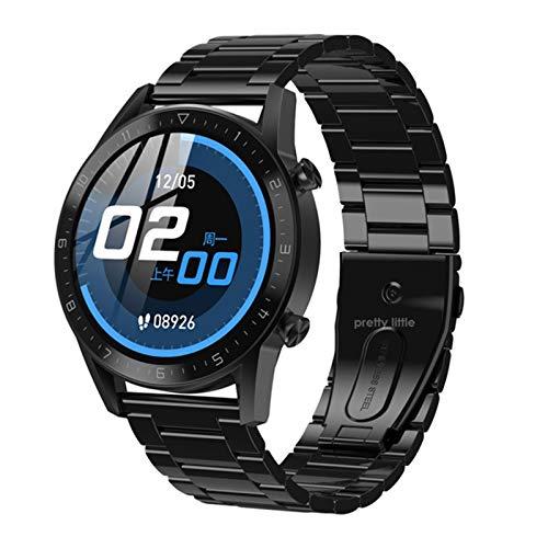 LLTG DT92 Men's Smart Watch, Monitor de Ritmo cardíaco Fitness Tracker IP68 Pulsera Impermeable Smartband Deportes Pulsera para Android iOS,B