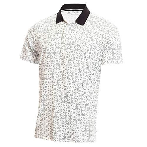 Calvin Klein Mens Geo CK Polo Shirt - White - L