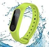 JIAJBG Pulsera de seguimiento de actividad física con monitor de frecuencia cardíaca, reloj inteligente, podómetro, rastreador GPS, pulsera inteligente impermeable para Android e iOS