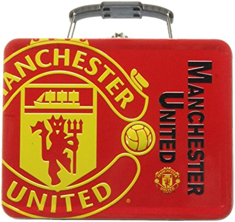 Official Embossed Manchester United Tin Lunch Box