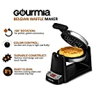 Gourmia Stainless Steel Digital Belgian Waffle Maker With LCD Display, Extra Deep, Fast & Easy 180 Degree Flipping, Adjustable Temperature For Fluffy & Golden Waffles, Free Recipe Book Included #1