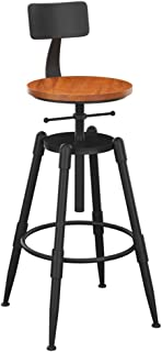 Wp-dz Vintage Wrought Iron Bar Stool, Home Bar Stool Chair Lift Chair Rotating Bar Stool High Chair, 68-90cm Adjustable, A Variety of Styles to Choose from (Color : 2-1)