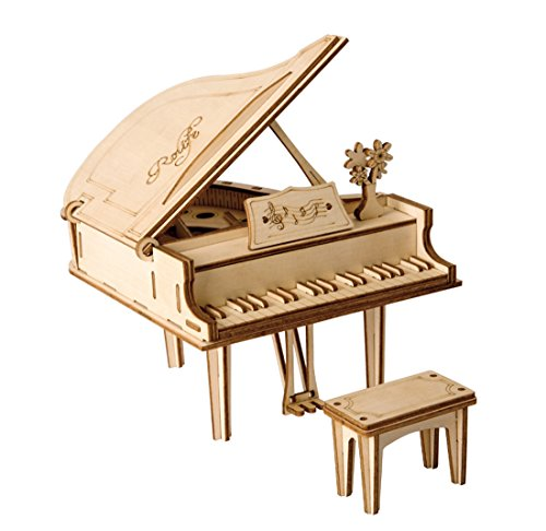 ROBOTIME 3D Laser-Cut Puzzle Grand Piano Model Kits DIY Arts & Crafts Great Gift Toys