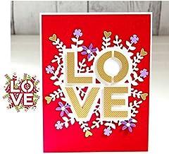 Love Flower Valentine Metal Cutting Dies Stencils for DIY Scrapbooking Photo Album Paper Cards Craft Embossing Decoration Dies