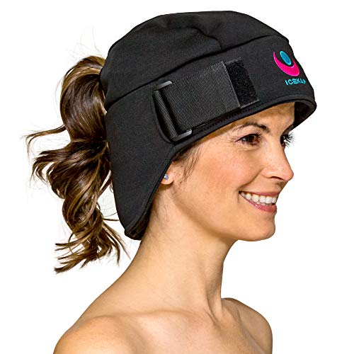 Icekap Migraine Cap - Patented Migraine Relief Headache Hat with 5 Gel Ice Pack - Ice Hat Lasts Up to 3 Hours! Icecap for Migraines, Chemo, Sinus Relief, Head Tension, Fever, Flu, Menopause and More