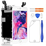 Yodoit Pantalla Completa para iPhone 6s Plus LCD Blanco, Ensamblaje de Reemplazo del Digitalizador con Piezas de Repuesto (cámara Frontal, Botón Home) + Herramienta (5,5 Pulgadas)
