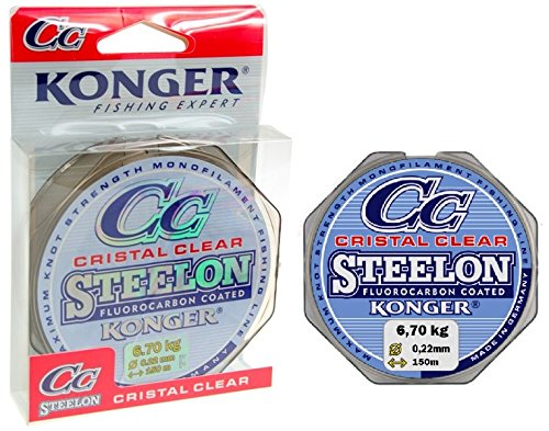 Konger Angelschnur Cristal Clear Fluorocarbon Coated 0,12-0,50mm/150m Monofile Super stark ! (0,18mm / 4,80kg)