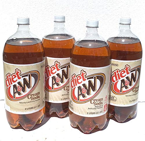 4 Pack Diet A&W Cream Soda - 2 Liters