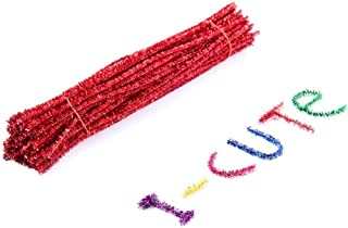 KESYOO 100Pcs Diy Chenille Hastes Coloridas Limpadores de Cachimbo de Pelúcia Twiste Stick para Arte Artesanato Criativo D...