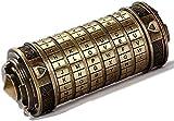 Cryptex Da Vinci Code Caja de Rompecabezas Bloqueo Cerebro Acertijo Cilindro Pod Rompecabezas Alfabeto Interesante Aniversario Regalos de Cumpleaños Creativo Romántico para Novio y Novia Cobreño