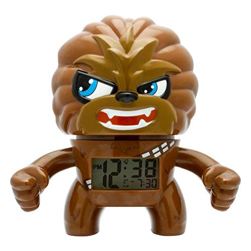 BulbBotz Star Wars Chewbacca Kinder-Wecker mit Hintergrundbeleuchtung| braun/schwarz| Kunststoff| 19 cm hoch| LCD-Display| Junge/Mädchen| offiziell