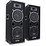 Max 2 x 8 Inch Speakers (Pair) Bedroom DJ Disco PA Party 1600W