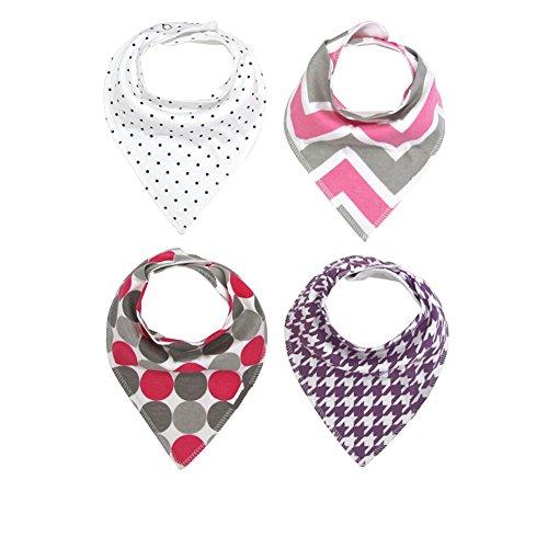 Cuteon Drool Bibs Baby bandana voor baby's, 4 stuks, absorberend, cadeau voor kinderen, meisjes, jongens