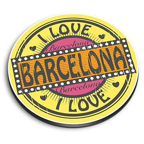 Destination Vinyl ltd Impresionantes imanes redondos de MDF – I Love Barcelona...