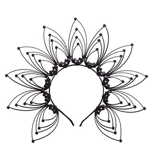 GRACEART Sunburst Halo Goud Kroon Hoofdband Kostuum Party Haaraccessoires Eén maat A-zwart