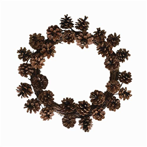 Mcsibobce Christmas Pine Cone Wreath, Hanging Ornament Artificial Flowers Garland for Front Door Wall Window Party Wedding Decoration