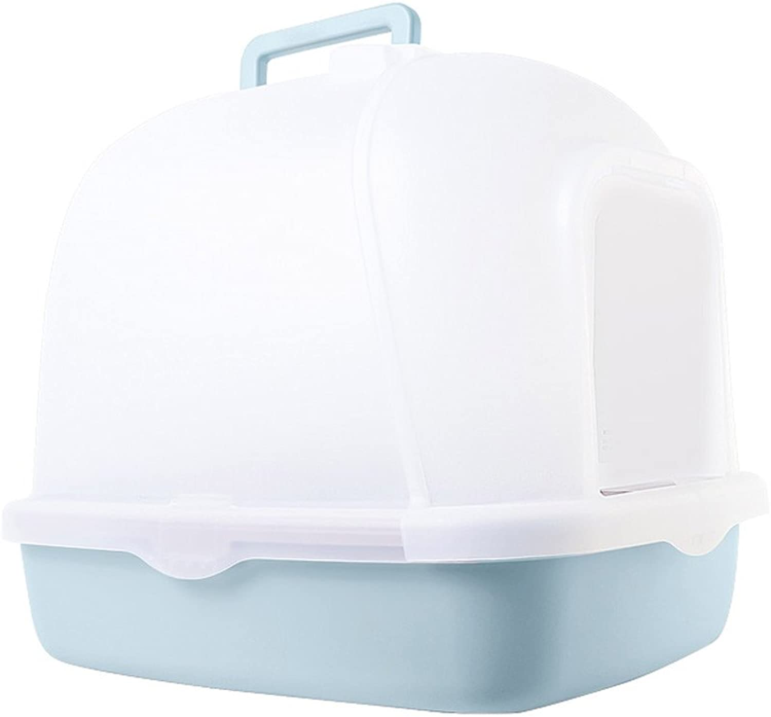 Cat Litter Box Large Fully Enclosed Litter Box Antisplashing Pets Cat Toilet Deodorant Cat Accessories 51x39x43.5cm Pet Toilet