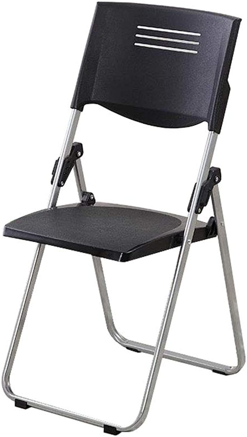 Office Folding Chair Black Plastic Padded Staff Training Meeting Chair Desk Chair