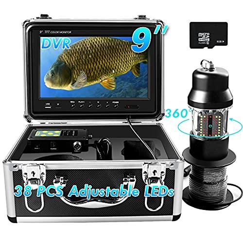 Underwater Fishing Camera 360° Rotating View Waterproof Video Camera...