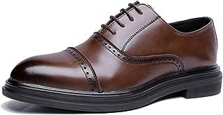 [WEWIN] ビジネスシューズ 革靴 メンズ 本革 紳士靴 内羽根 ストレートチップ ウォーキング 靴 カジュアル 厚底 防滑 通気 柔らかい