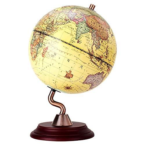 ZSAIMD 360 ° Rotating Retro Globe Lernen Bildung Erde World Ocean Karte Kugel Antike Desktop-Geographie for Home Desk Dekoration Geographie Bildungs interaktives Spielzeug