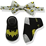 DC Comics Baby Boys Superhero Bowtie und Sock Set