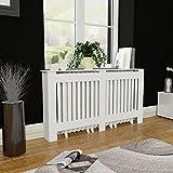 HUANGDANSP Cubre radiador Blanco de Material MDF, 152 cm Casa y jardín Accesorios para electrodomésticos Accesorios para radiadores de calefacción